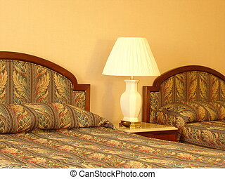 Bedroom Trio - Beds and Lamp
