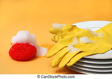dishwashing - washing the dishes