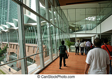 People walking, Kuala Lumpur Convention Center