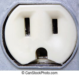 Electrical Outlet Extreme Closeup - Extreme Closeup of an...
