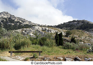 calanques view - the start of a walk into the calanques,...