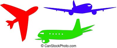 jumbo jet icons