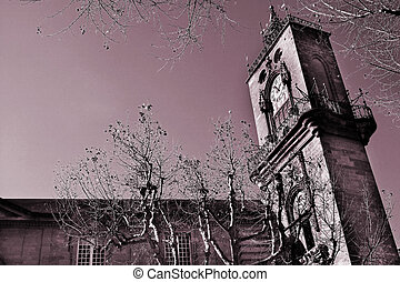 Aix-en-provence #85 - The clocktower of Hotel de Ville in...