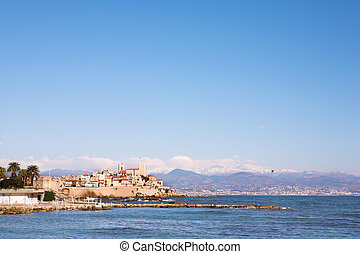 Antibes #147 - A town overlooking the sea in Antibes,...
