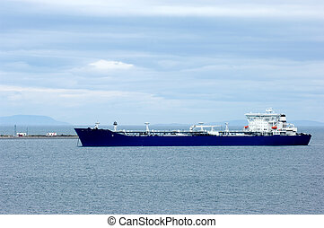 Cargo ship - Port Angeles in Washington