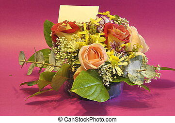 ad space, flowers - beautiful flower arrangement with ad...