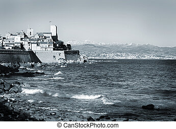 Antibes 165 - A town overlooking the sea in Antibes, France...