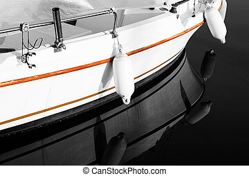 Antibes #175 - A close-up of a yacht in Antibes, France....