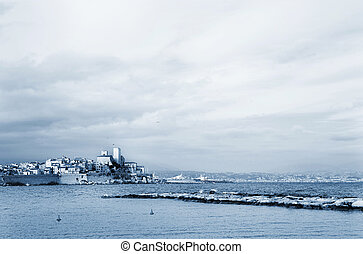 Antibes #89 - A town overlooking the sea in Antibes, France....