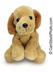 Soft-toy dog - Soft plush toy dog looking cute straight into...