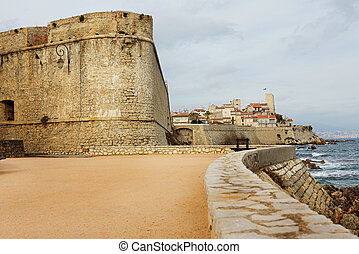 Antibes #93 - A town overlooking the sea in Antibes, France....