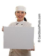 Chef, o, cocinero