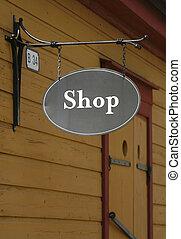 Shop - Antique shop sign