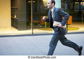 running - Businessman running