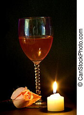 Romance night - Romance tonight with wine and candles