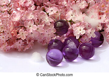 lilac bath - lilac scented bath accessories, and lilacs