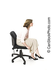 bad posture - woman sitting in bad posture