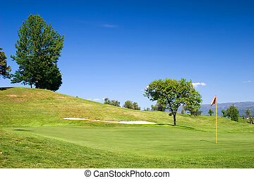 Golf Field - Golf field : 18th hole