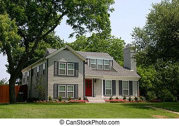 Colonial Style House - colonial style house with very, very...