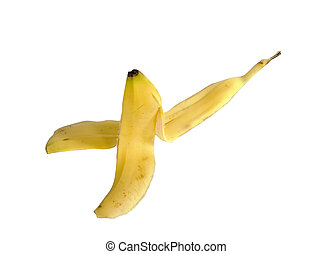 Cliche Banana Peel - A cliche banana peel laying on the...