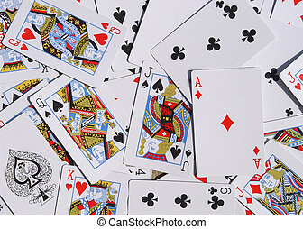 playing cards - many different playing cards