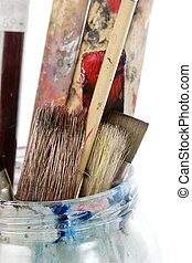 Paint Brush - Paint brushes isolated on white with clipping...