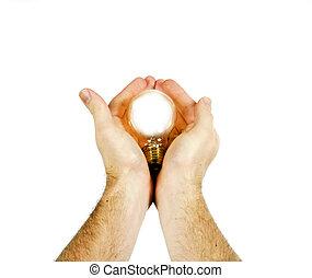 New Birth - A concept image of a new idea, new birth A light...
