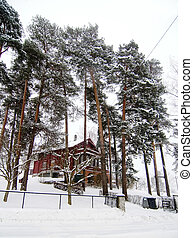 Winter Holiday Cabin - Nordstrand villa in winter, Oslo,...
