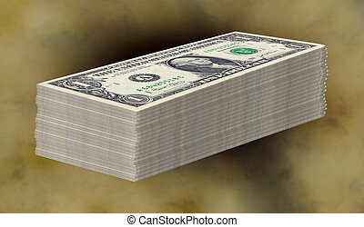 Money Stack - Stack of Money - Clipping Path