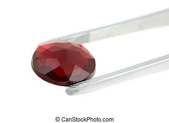 vermelho, Pedra preciosa