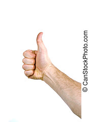 Thumbs Up - The hand of a man holding a thumb up