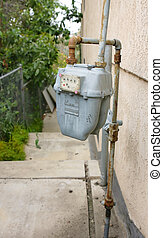 Gas Meter - Rusted Gas Meter