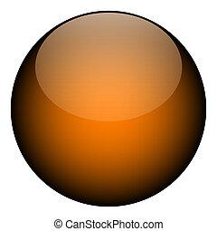 Orange Sphere Orb - A 3d orange sphere shape - it can be a...