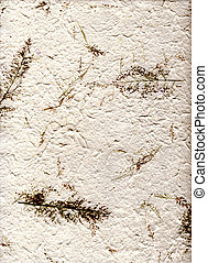 Natural paper with leaves, (hight resolution) - background...