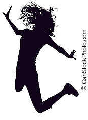 Silhouette Jumping