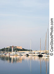 Antibes 287 - A harbor in Antibes, France Pastel colour Copy...