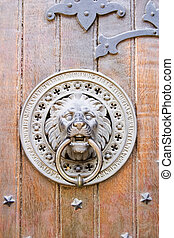 Door Knocker - Lion door knocker on a church in Oslo, Norway