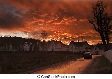 Dramatic Clouds - Dramatic sundown in Fredrikstad Norway