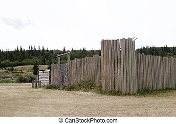 Mounted Police Fort - Fort at cypruss hills provincial park