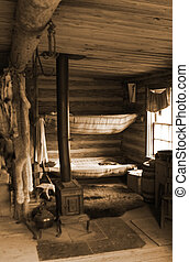 Trading Post - Trading post at the Cypress Hills Provincial...
