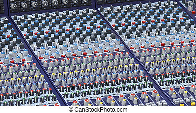 part of the mixer desk - mixer desk