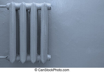 radiator with space for text - blue radiator