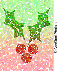Dotted holly background