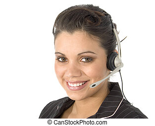 Customer Service - Beautiful young Hispanic customer service...