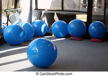 gym equipment - yoga balls at the gym