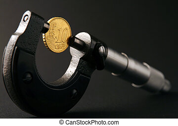 coin and micrometer