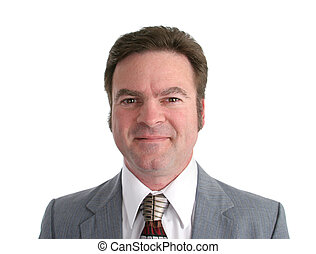 Businessman Headshot - An isolated headshot of a handsome...