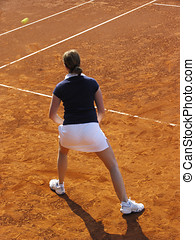 Tennis player - Young woman plays tennis in the week-end...