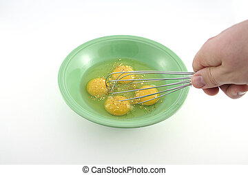 Spiced eggs in a bowl