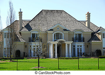 Luxury home in early spring